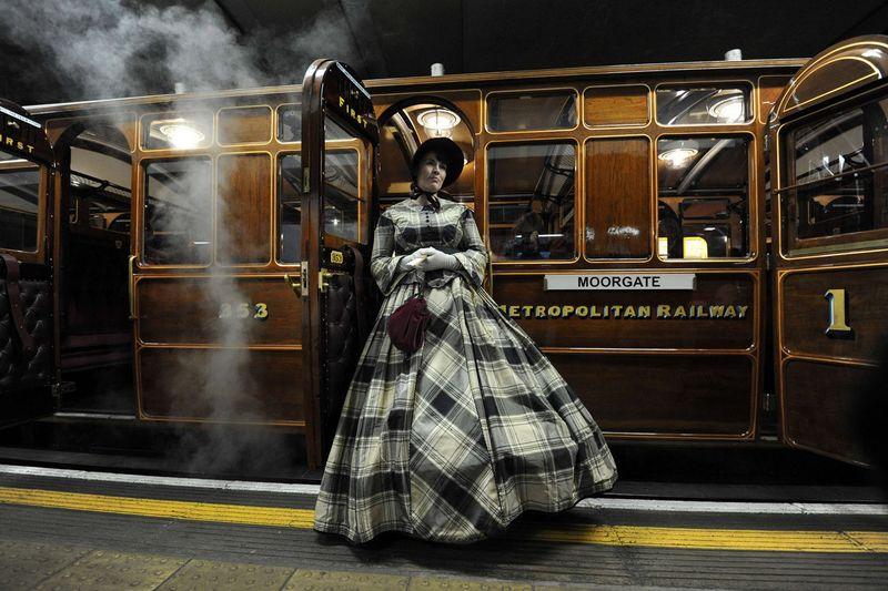 Restored London Underground Steam Train Carriage