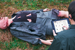 Tactical Combat Casualty Care Simulator with Gunshot Wounds